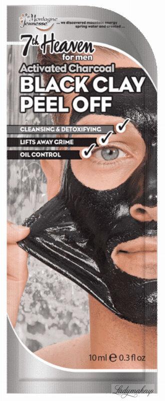 7th Heaven (Montagne Jeunesse) - Activated Charcoal Black Clay Peel Off - Oczyszczająca maska z czarnej glinki dla mężczyzn - Peel Off - 10 ml