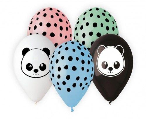 Balony Premium Panda, 5 szt.