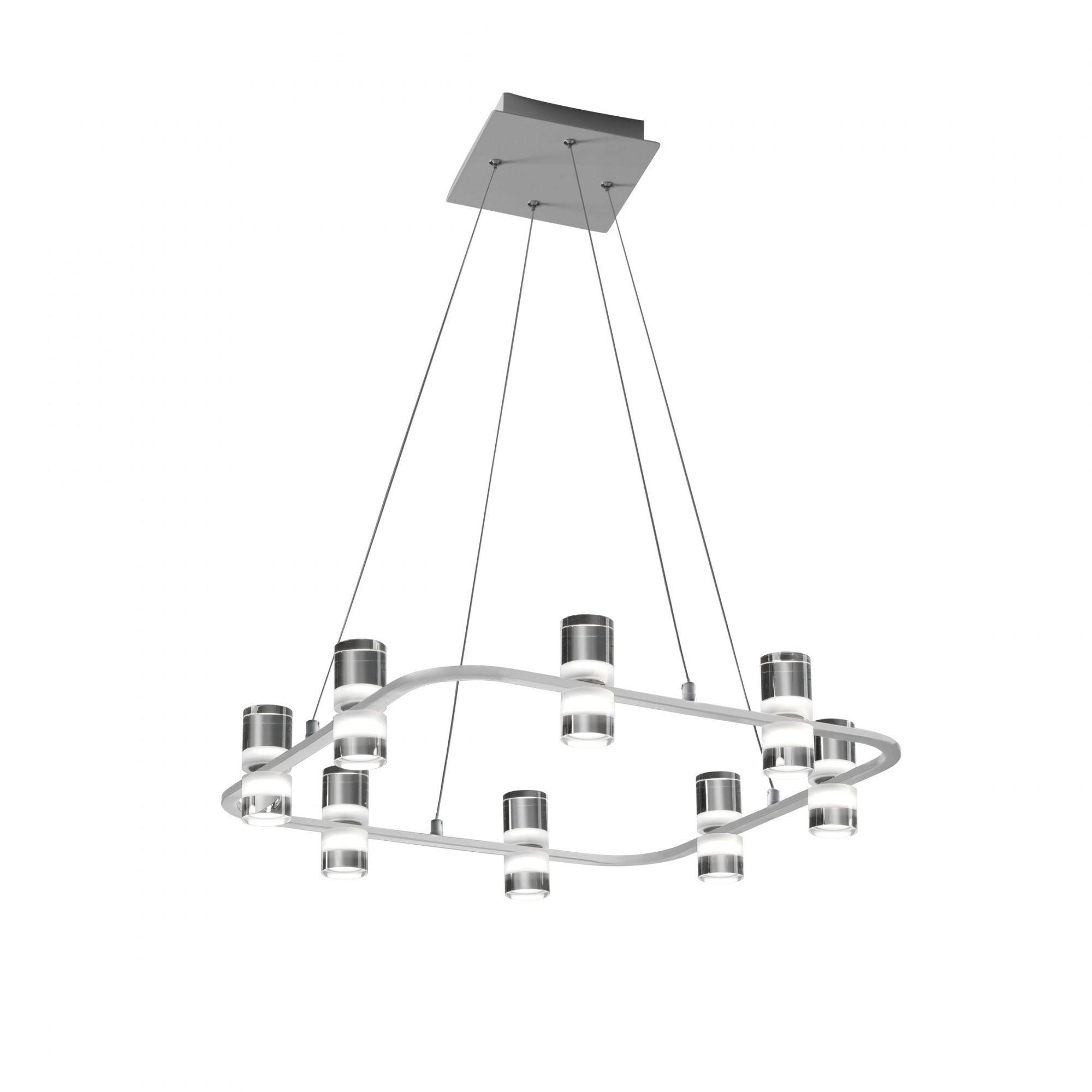 Lampa wisząca Kingfort 0085.30.BI VIVIDA International efektowna lampa wisząca biała LED 8 kloszy