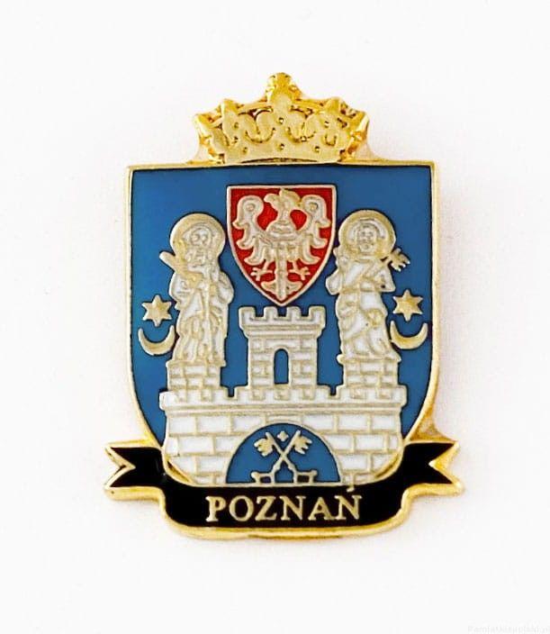 Herb Poznań - przypinka