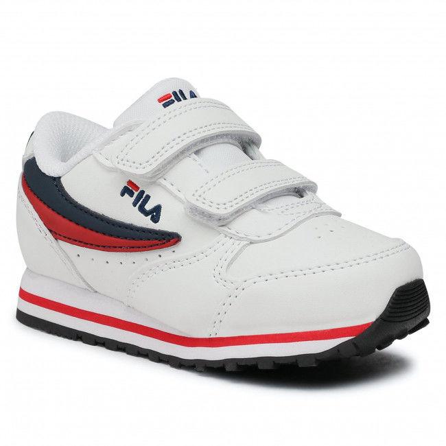 Sneakersy FILA - Orbit Velcro Infants 1011080.98F White/Dress Blue