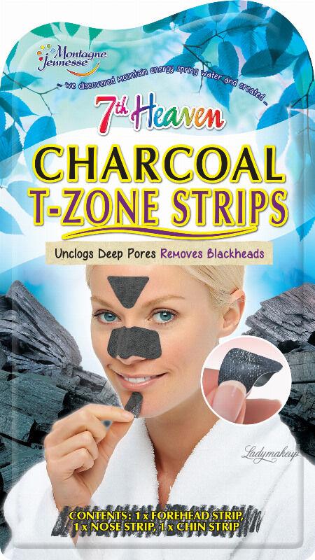 7th Heaven (Montagne Jeunesse) - Charcoal T-Zone Strips - Oczyszczające plastry węglowe do strefy T