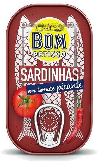 Sardynki pikantne w pomidorach 120g Bom Petisco