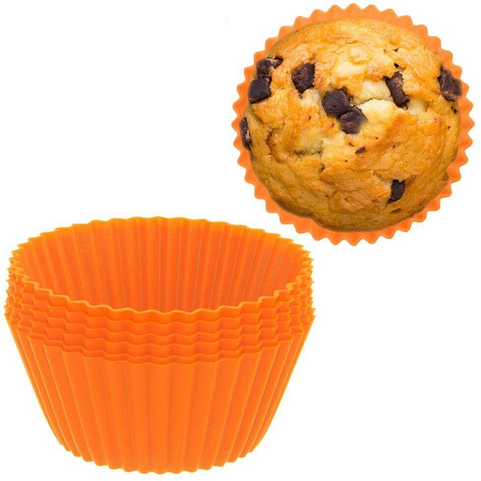 Forma do pieczenia muffinek, babeczek, na muffinki, silikonowa, foremki, 6 sztuk
