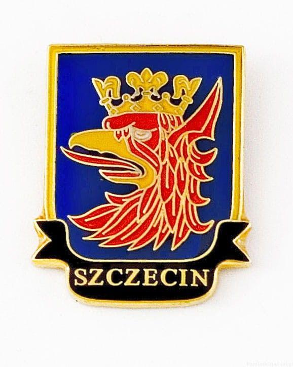Herb Szczecin - przypinka