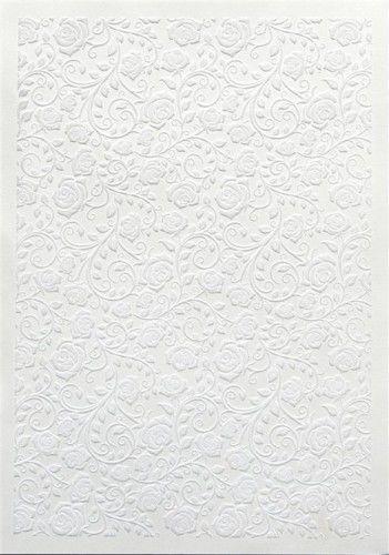 Galeria Papieru Karton welurowy RÓŻE BIAŁY opakowanie 5 szt A4 208401