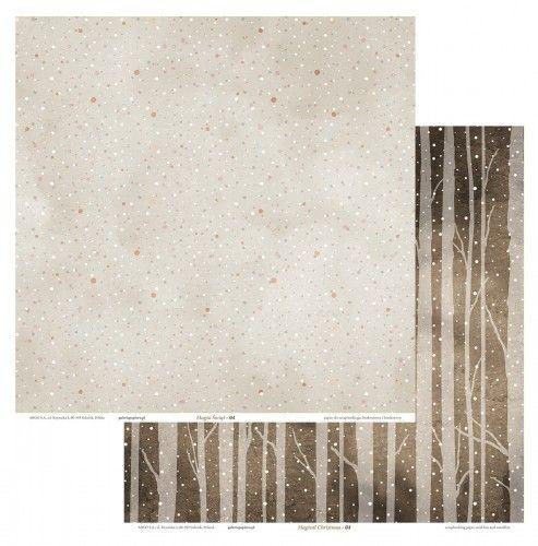 Galeria Papieru Papier scrapbookingowy Magia Świąt 04 30,5x30,5 opakowanie 5 ark