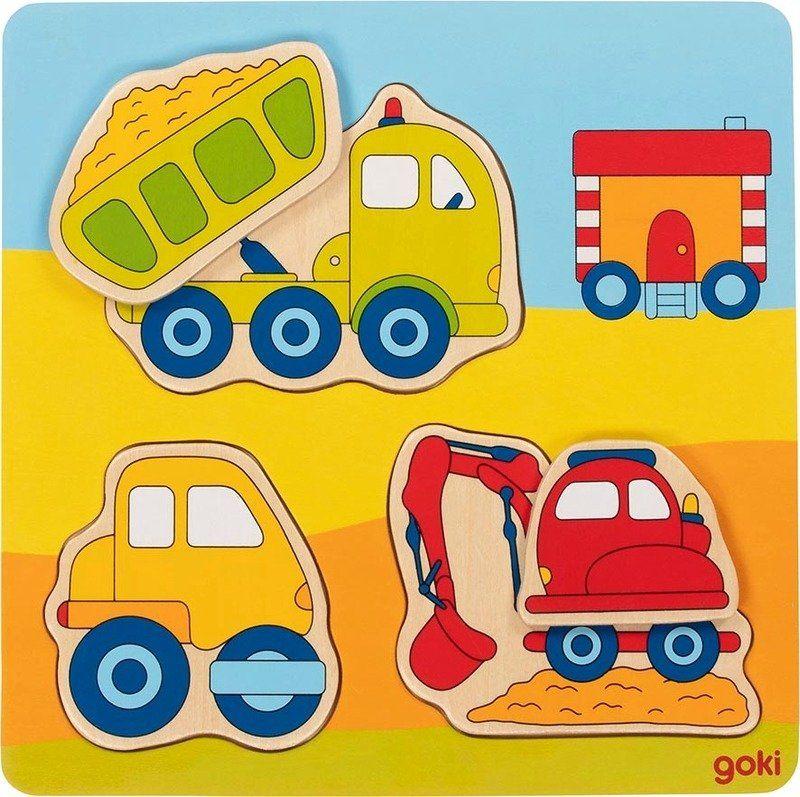 Układanka dla dzieci Na placu budowy 57721- Goki, puzzle do układania