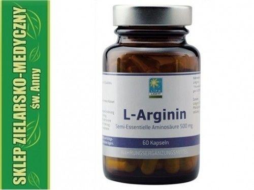 L-Arginin 60 Kapsułek Arginina + Witamina B6