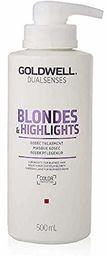 Goldwell Dualsenses Blondes & Highlights 60 seconds Treatment kuracja pielęgnacyjna, 1 opakowanie (1 x 500 ml)