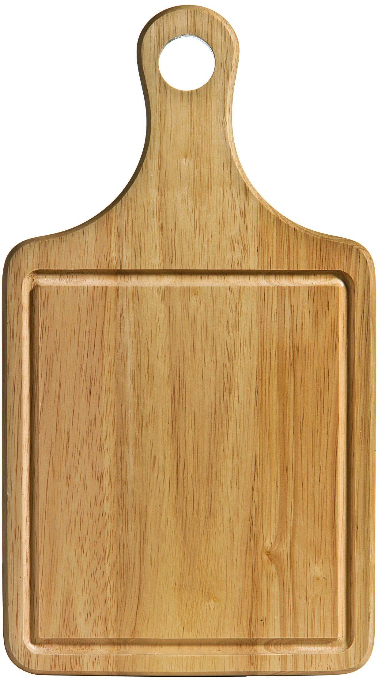 Premier Housewares Deska do krojenia, drewno kauczukowe, z uchwytem i rowkiem na sok, 36 x 20 x 1,5 cm