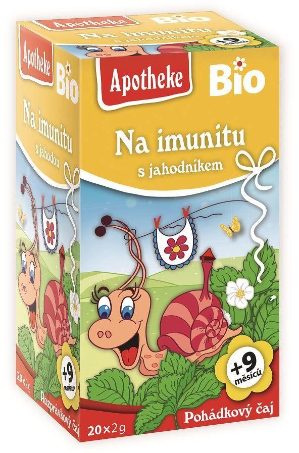 Herbatka dla dzieci - na odporność truskawka bio 40 g (20 x 2 g) - apotheke