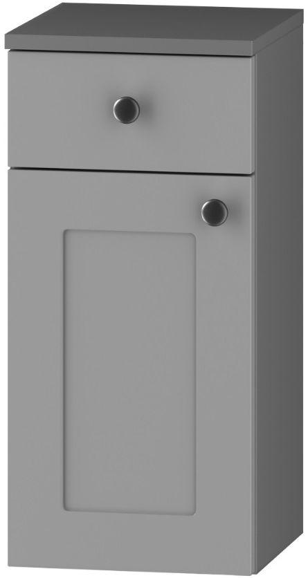 Szafka łazienkowa SENJA D30 S/1 P/L z blatem szary mat
