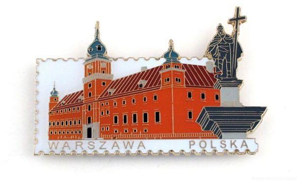 Magnes znaczek Warszawa. zamek