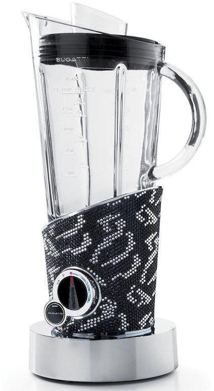 Casa bugatti - blender vela - 4105 kryształów czarnych i srebrnych swarovski