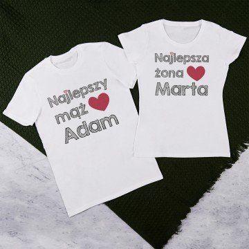 Najlepszy mąż, żona - Zestaw Koszulek Dla Par