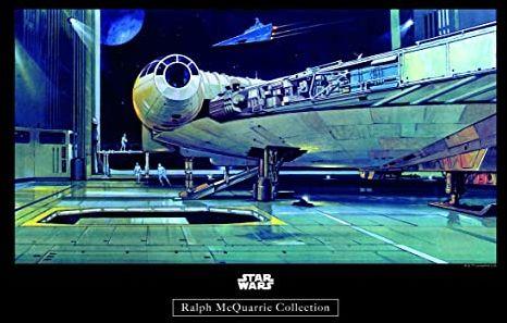 Komar obraz ścienny Star Wars Classic RMQ Falcon Hangar pokój dziecięcy, pokój młodzieżowy, dekoracja, druk artystyczny bez ramy WB140-40x30 Rozmiar: 40 x 30 cm (szerokość x wysokość)
