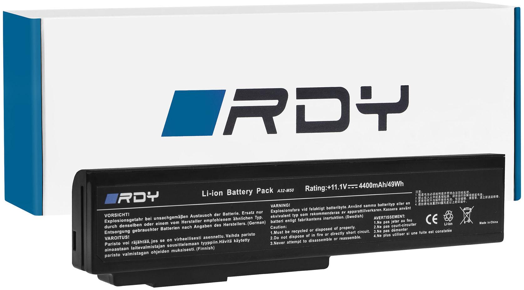 Bateria RDY A32-M50 A32-N61 do Asus G50 G50-45 G50-80 G60 L50 M50 N53 N53SV N61 N61J N61VG