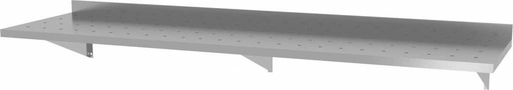 Półka wisząca na konsolach perforowana z trzema konsolami szer: 1600 - 2000mm gł: 400mm