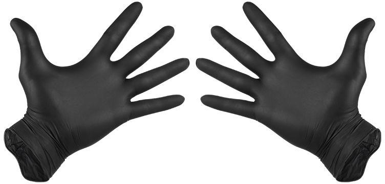 2828# Rękawiczki nitrylowe czarne L - 100 sztuk