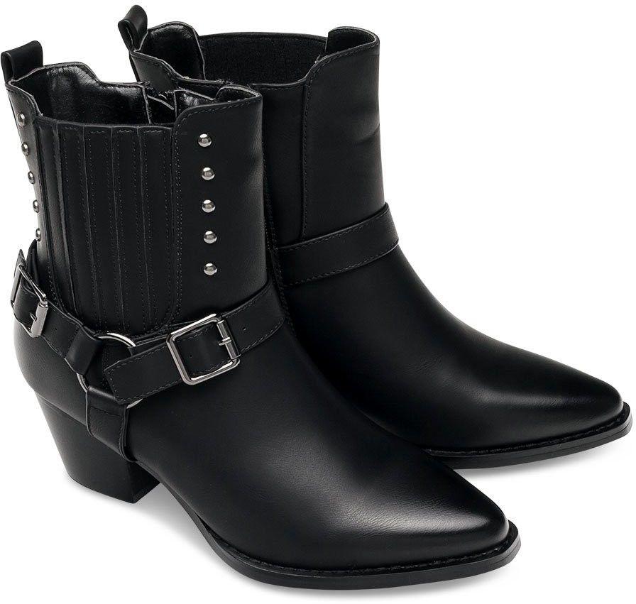 Wegańskie Kowbojki damskie Super Mode 1341 Czarne