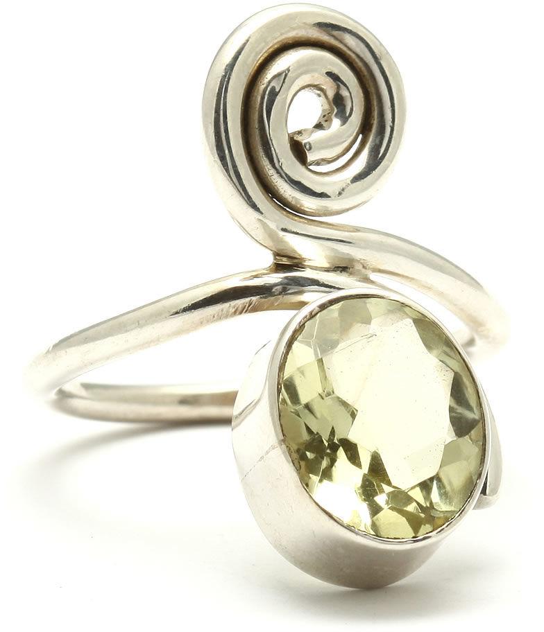 Kuźnia Srebra - Pierścionek srebrny, rozm. 17, Cytrynowy Kwarc, 5g, model