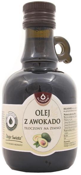 Olej z awokado tłoczony na zimno - Oleofarm - 250ml