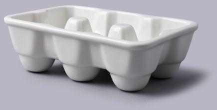 Porcelanowy pojemnik do przechowywania jajek prostokątny