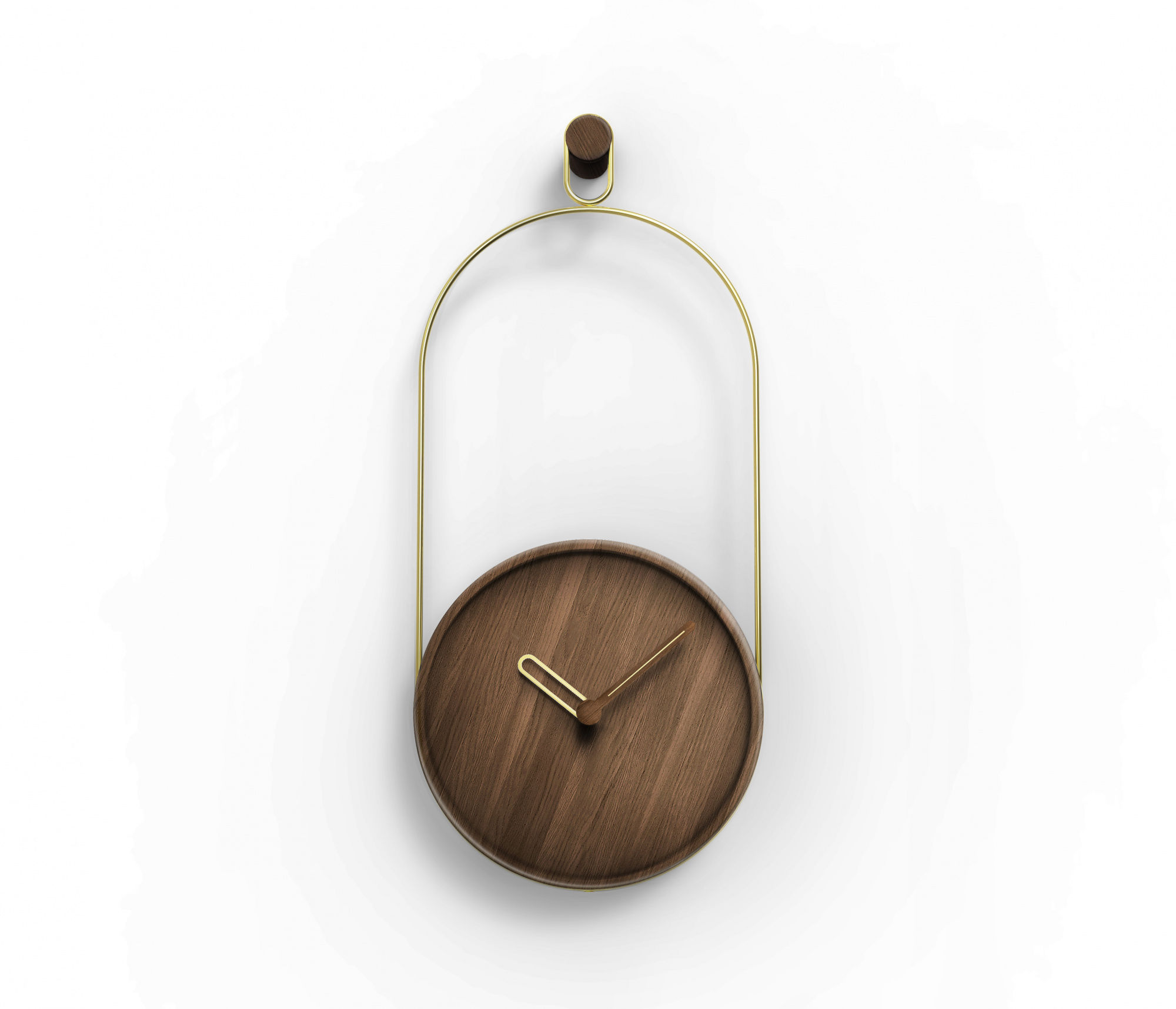 Zegar ścienny Eslabón ESLA_ Nomon z drewnianą tarczą