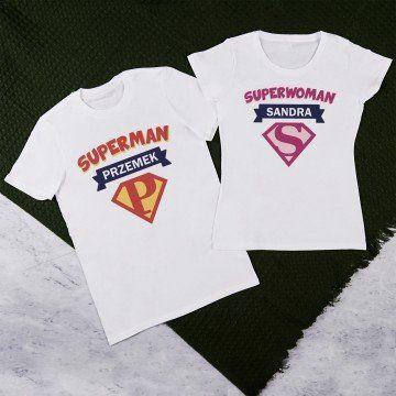 Superman, superwoman - Zestaw Koszulek Dla Par