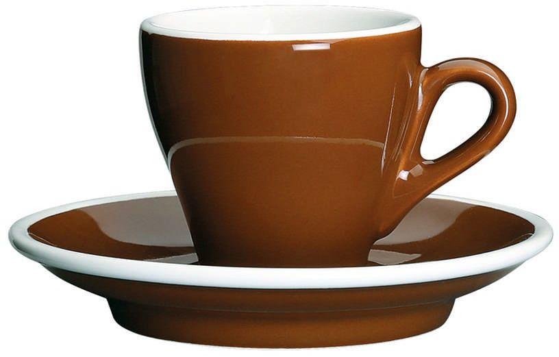 Cilio - milano - filiżanka do espresso, 0,5 l, brązowo-biała