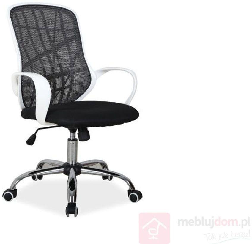 KUPON 10% NA STRONIE  Fotel pracowniczy DEXTER Signal Czarno-biały