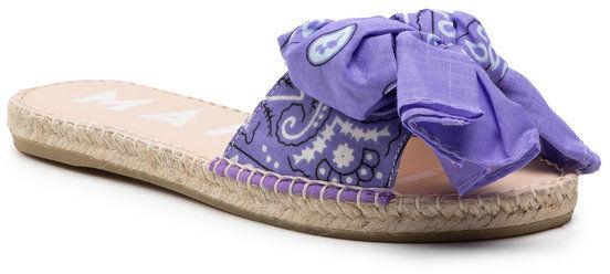 Manebi Espadryle Sandal With Bow F 9.5 J0 Fioletowy