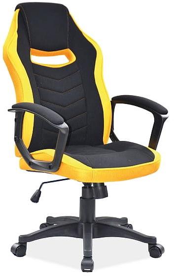 Fotel obrotowy CAMARO żółty/czarny gamingowy