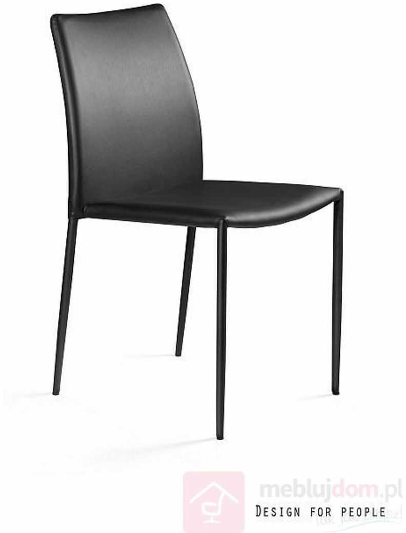 Krzesło DESIGN Ekoskóra Czarny, Ekoskóra  Zapytaj o RABAT!