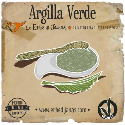 Glinka zielona Montmorillonite do maseczek na twarz Argilla Verde Erbe di Janas 50