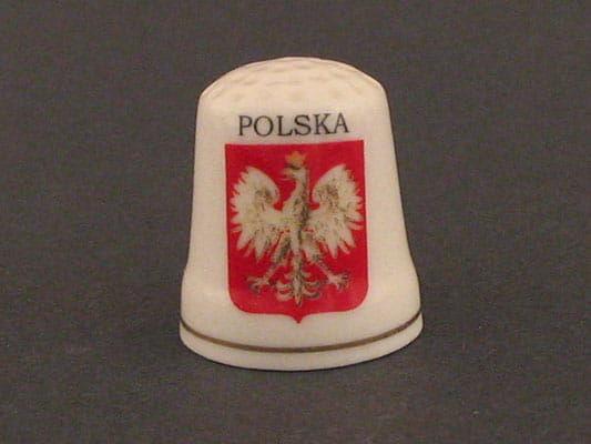 Naparstek ceramiczny - Polska (Orzeł)
