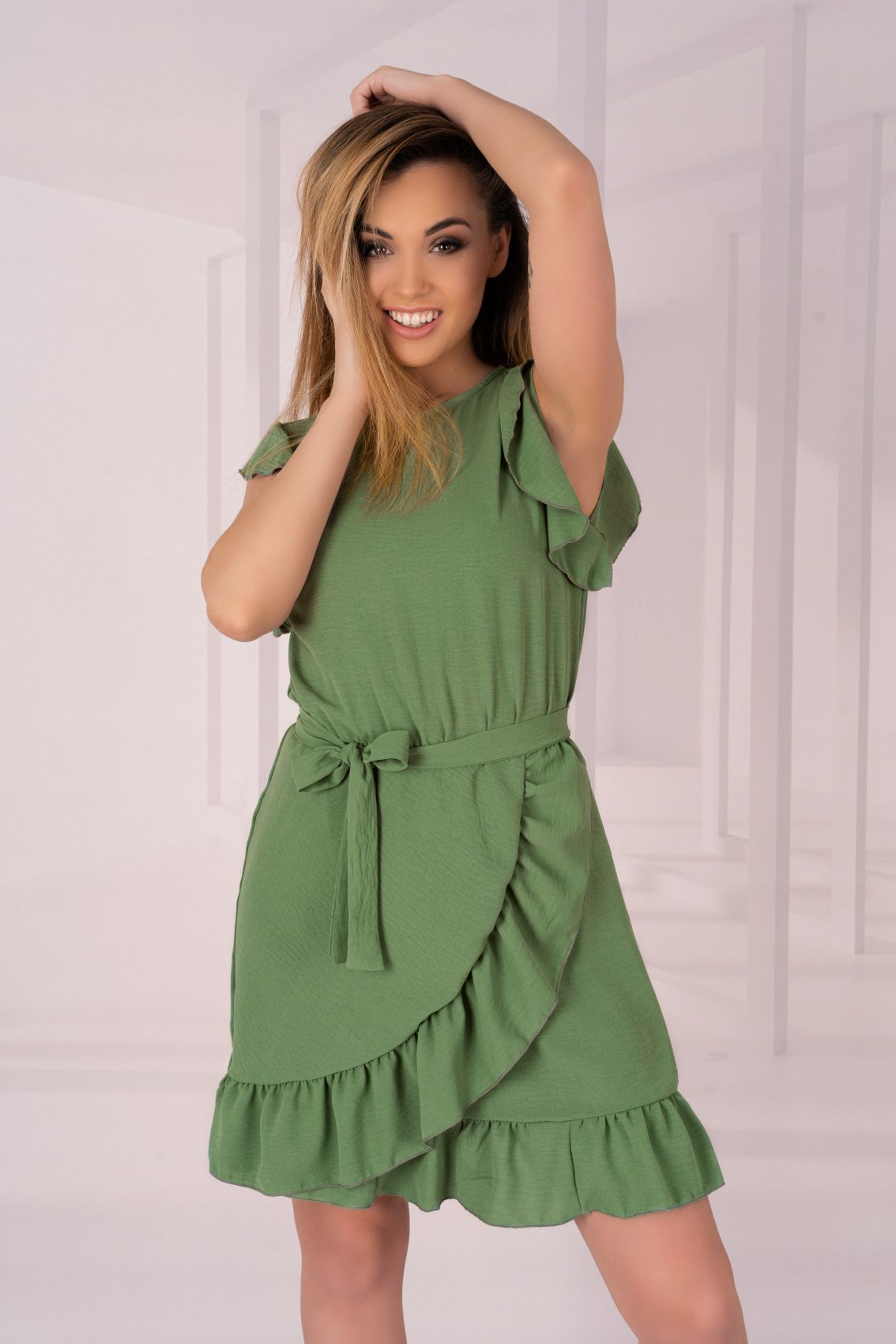 Keema Khaki D06 sukienka