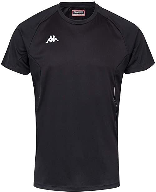 Kappa Męski T-shirt Fanio, czarny, 14Y