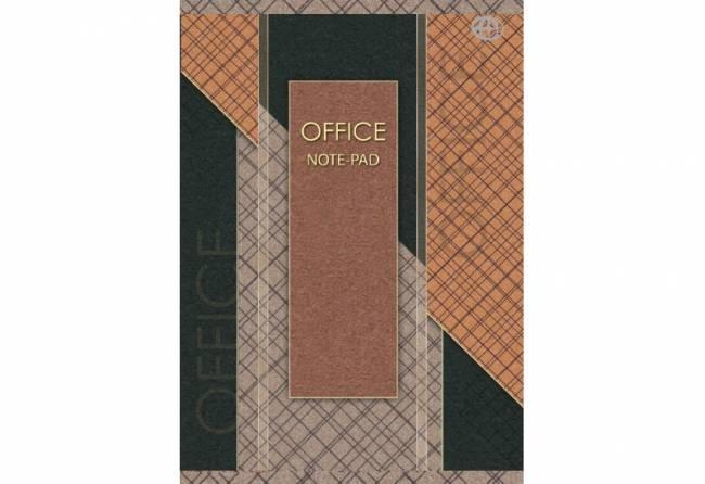 Blok biurowy A6 kratka 100 kartek, losowy wzór okładki - X04573