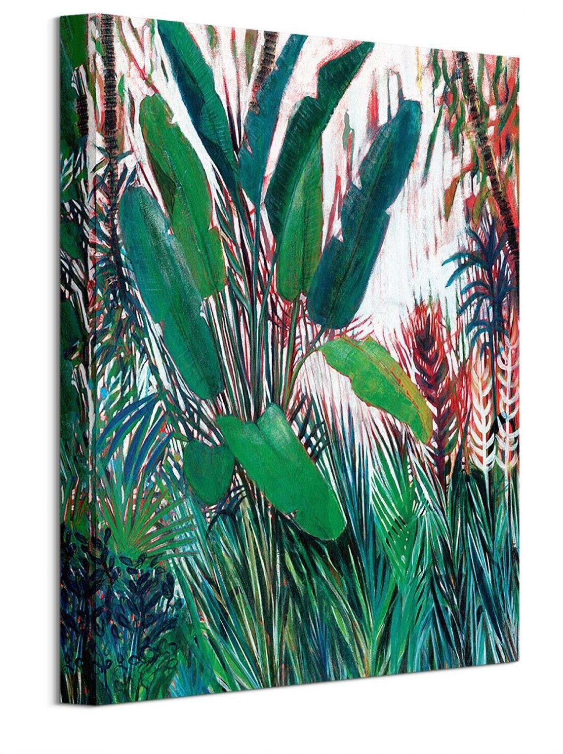 Zielone liście - obraz na płótnie