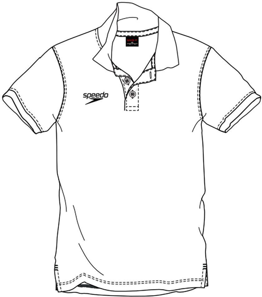 Speedo Koszulka polo, męska XXL biała (biała)