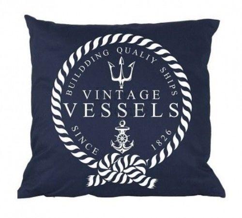 Poduszka marynistyczna Vintage Vessels