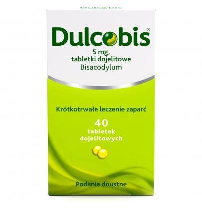 Dulcobis krótkotrwałe leczenie zaparć 5mg 40 tabletek dojelitowych