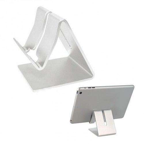 Stojak metalowy na telefon srebrny