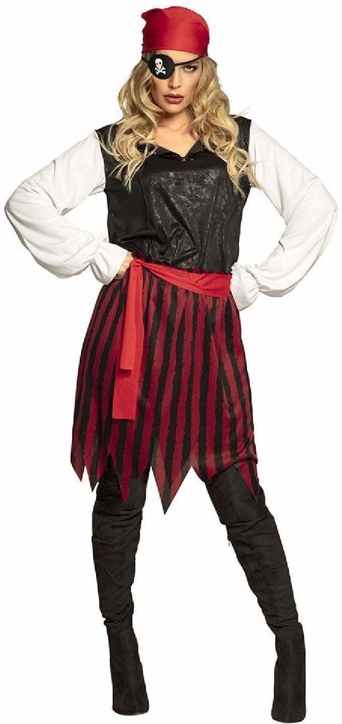 Boland 84524 kostium dla dorosłych piratka Gusty, damski, czerwony, 36/38