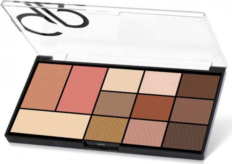 Golden Rose - CITY STYLE - Face & Eye Palette - Paleta do makijażu twarzy - 01 WARM NUDE