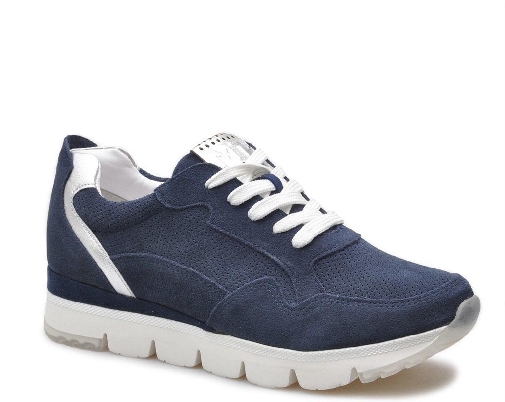 Sneakersy Marco Tozzi 2-23754-34 Granatowe zamsz