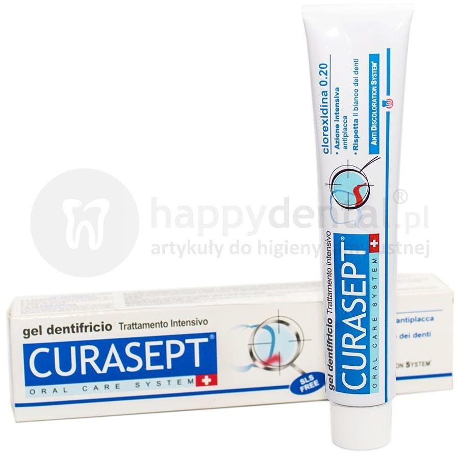 CURASEPT ADS 720 pasta do zębów z chlorheksydyną 0.20% 75ml