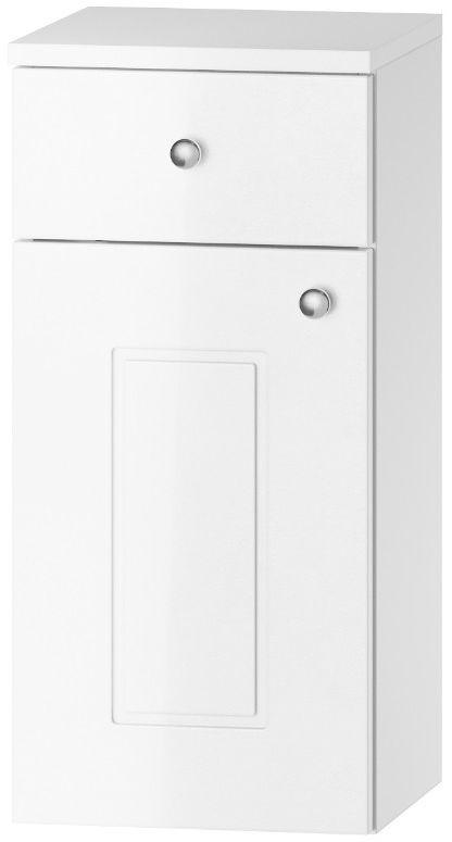 Szafka łazienkowa VERONA D30 S/1 P/L z blatem biały połysk
